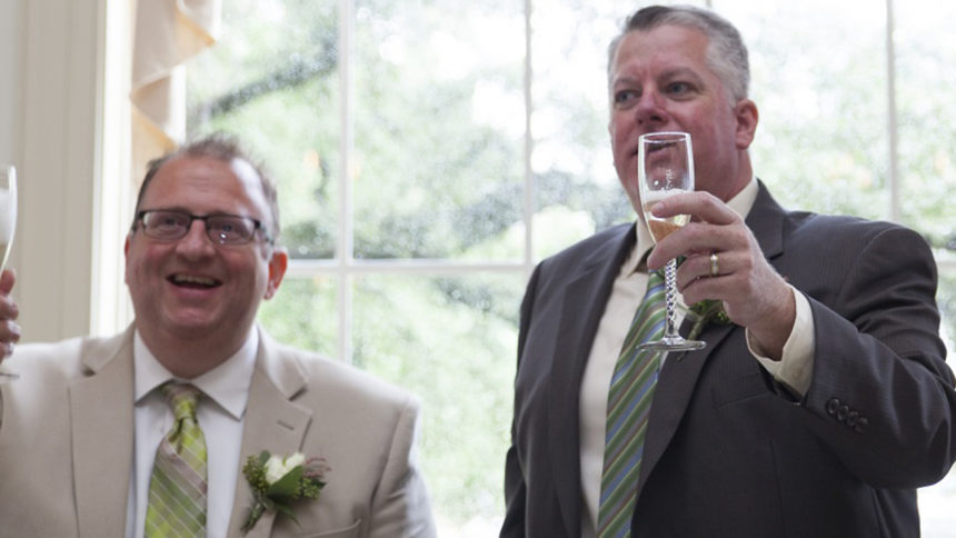 A Toast to the Grooms