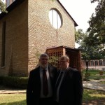 Harry and Tommy in Chapel front yard 2