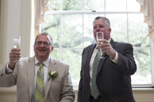 A toast to Tod and Casey