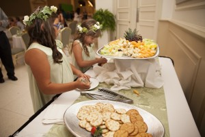 Cheese and crackers catered by TWU Catering