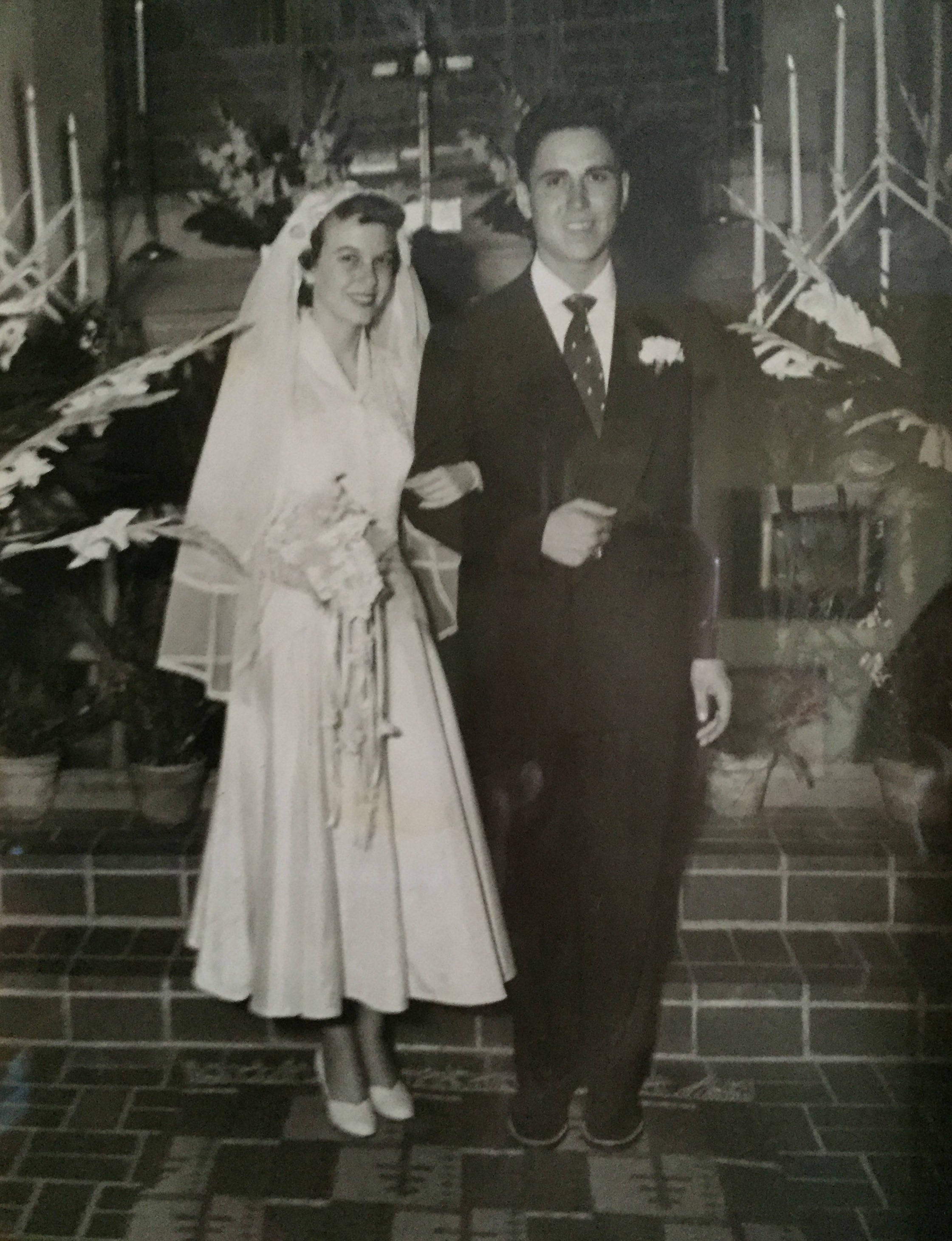 David and Peggy married at the Little Chapel in the Woods 9/27/1951